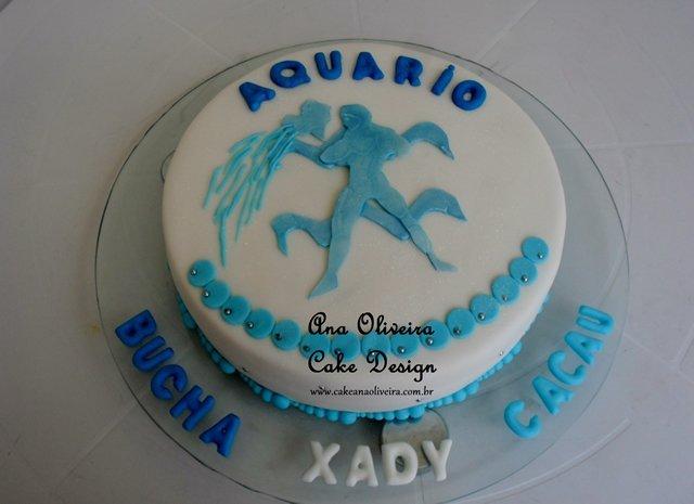 Bolo Decorado Signo aquario