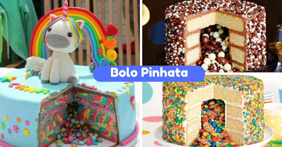 10+ Ideias de Bolos Pinhata