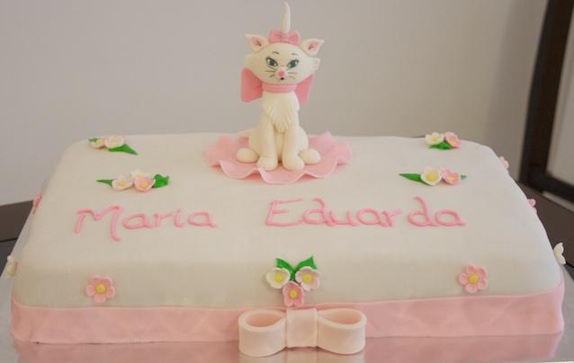 Bolo aniversário Gata Marie