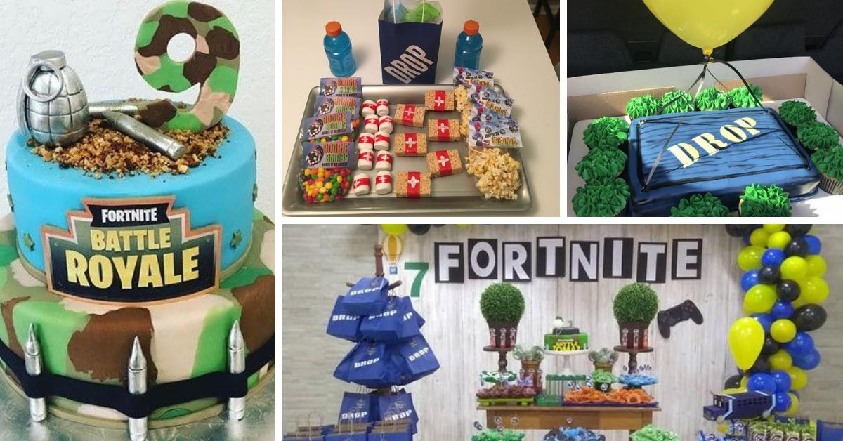 Festa Fortnite- Dicas de Decoração e Bolos Decorados