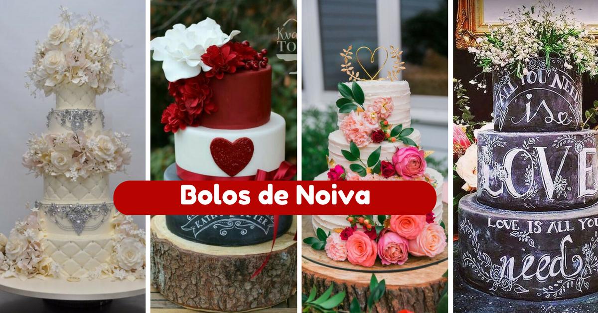 15+ Modelos de Bolos de Noiva Lindos