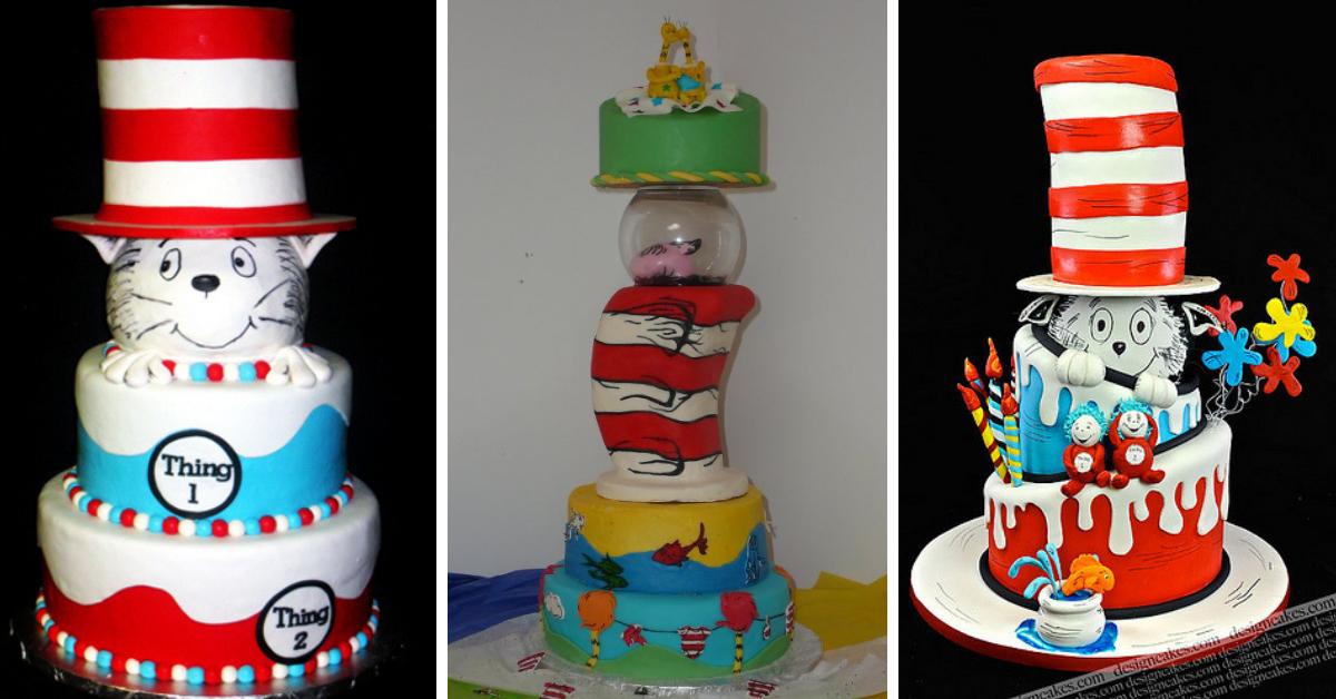 Bolos decorados Dr. Seuss