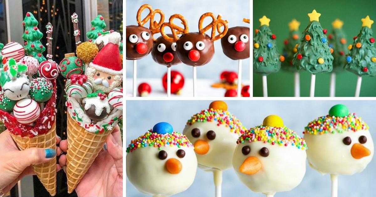 Cake Pops de Natal- Receita e Ideias de Decoração