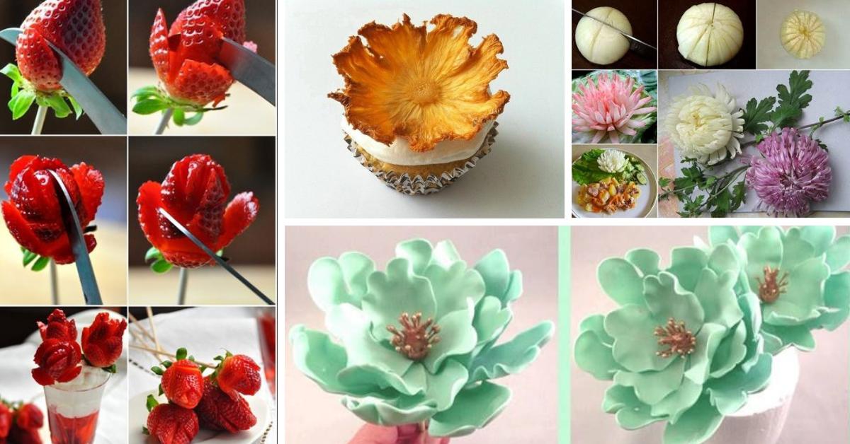 Flores Comestíveis- Tutoriais e Ideias Incríveis