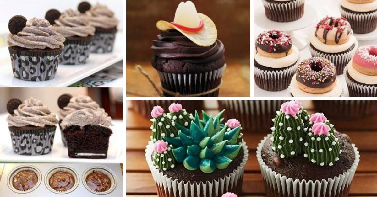 Cupcakes de Chocolate- Receita e Inspirações