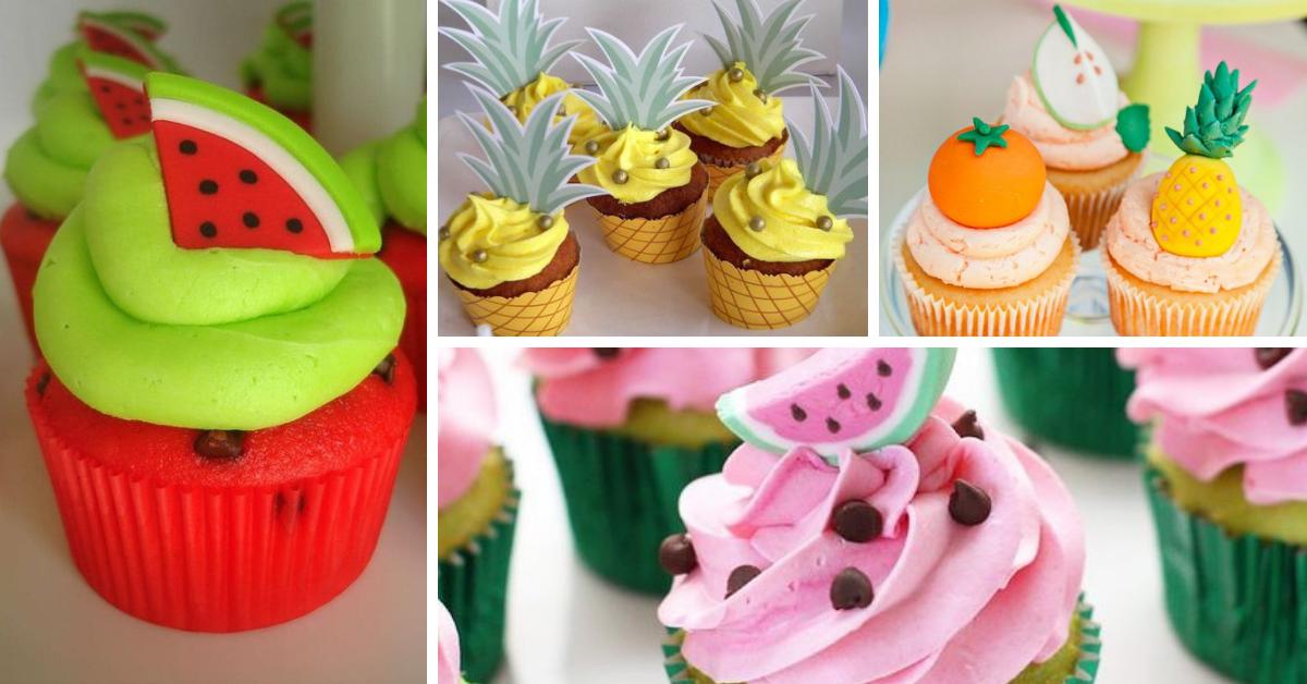Cupcakes inspirados nas frutas