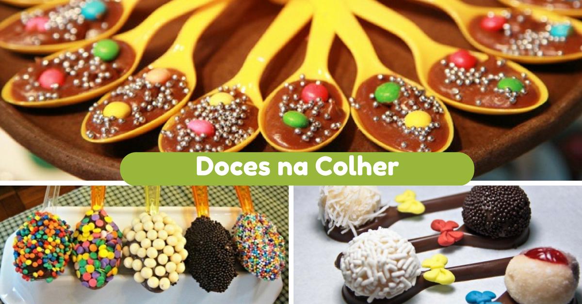 Ideias de Docinhos na Colher para Festa Infantil