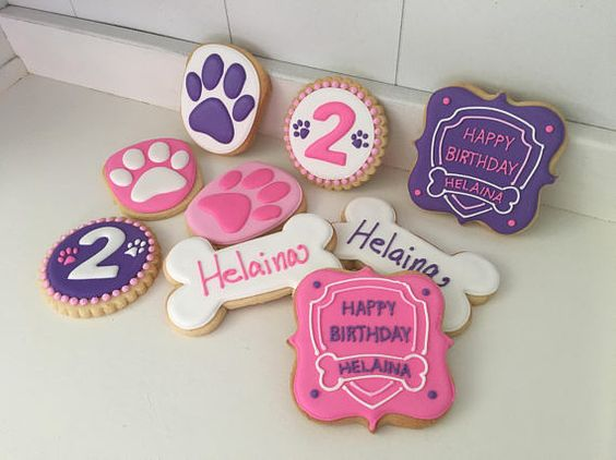 Festa Skye Patrulha Canina biscoitos