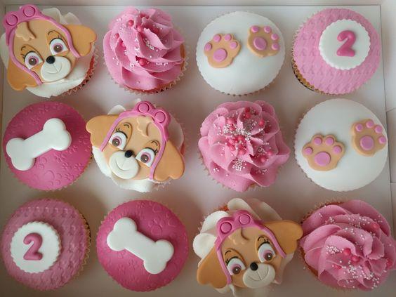 Festa Skye Patrulha Canina cupcakes