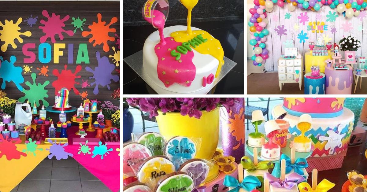 Festa Slime- Ideias para uma Festa de sonho