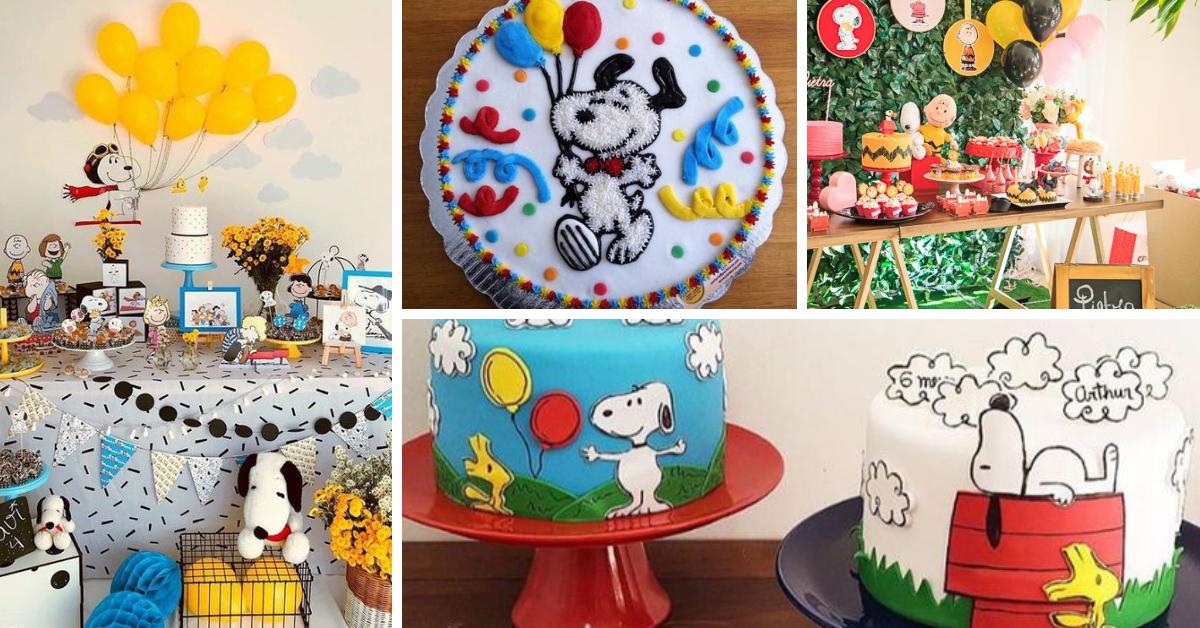 Festa Snoopy: Bolos Decorados e Ideias de Decoração