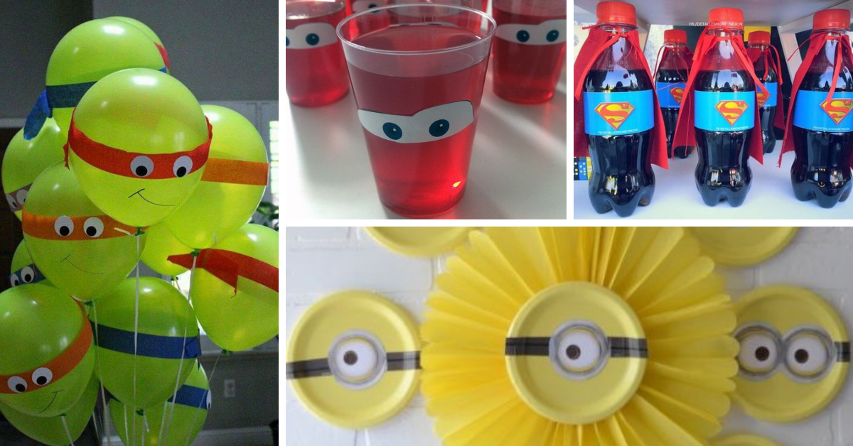 5 Temas para Festas Infantis Menino