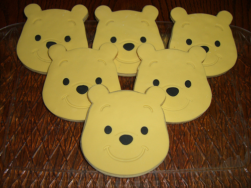 Winnie the Pooh Face Cookies