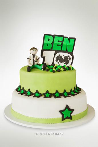 ben 10 bolo decorado