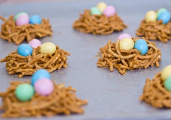 bolachas ninhos de ovos