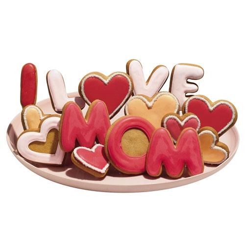Bolachas decoradas para o Dia da Mãe