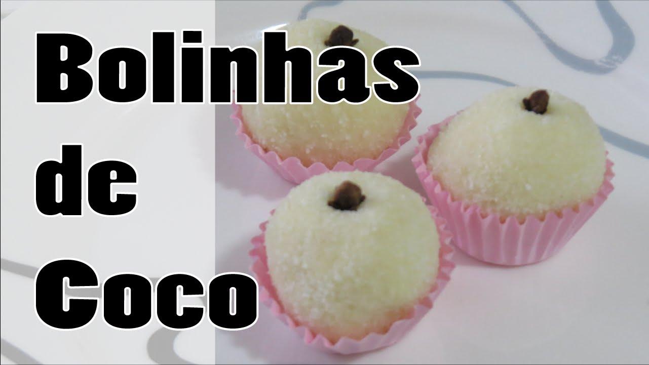 Receita de Bolinhas de Coco