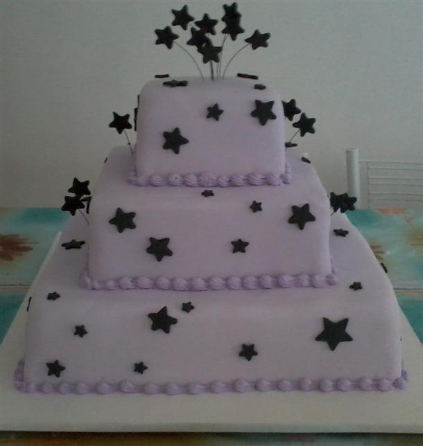 bolo 15 anos estrela negra
