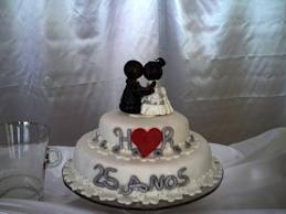 bolo 25 anos bodas de prata
