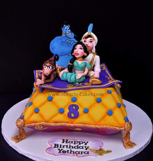 bolo aniversário jasmine aladino