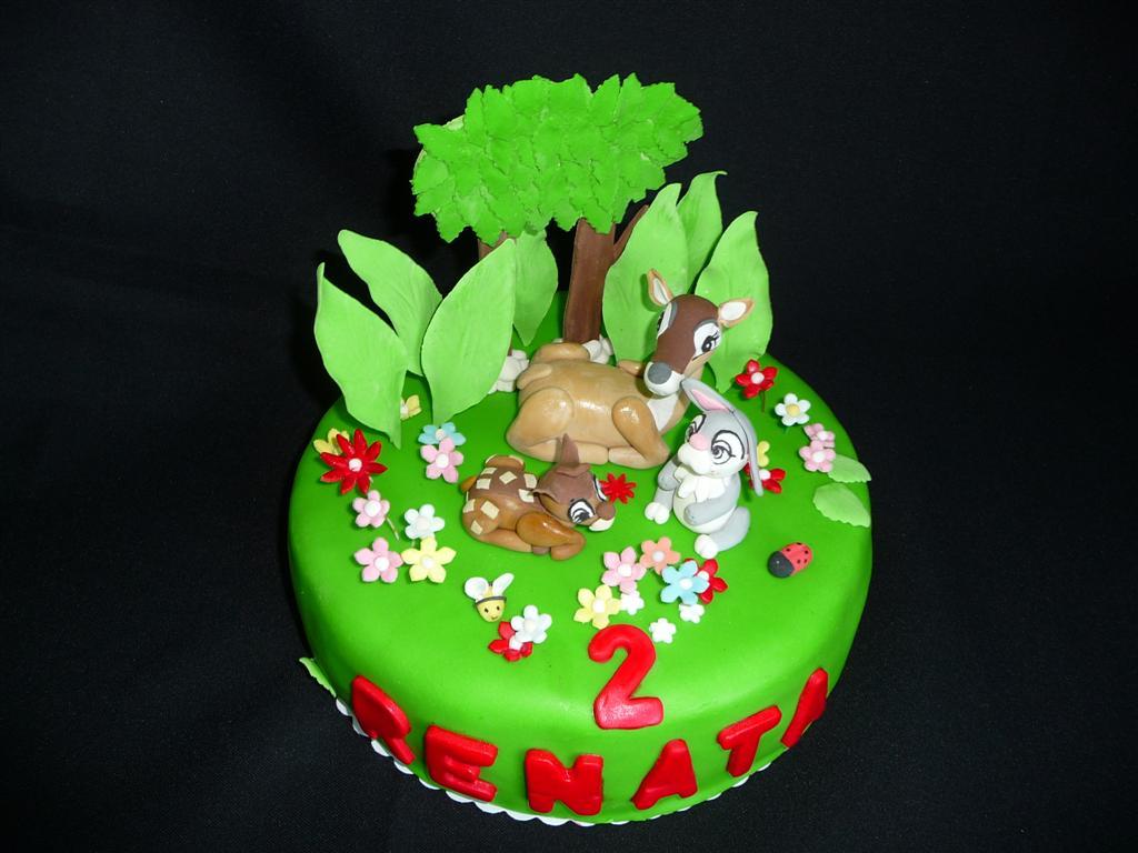 bolo aniversario bambi