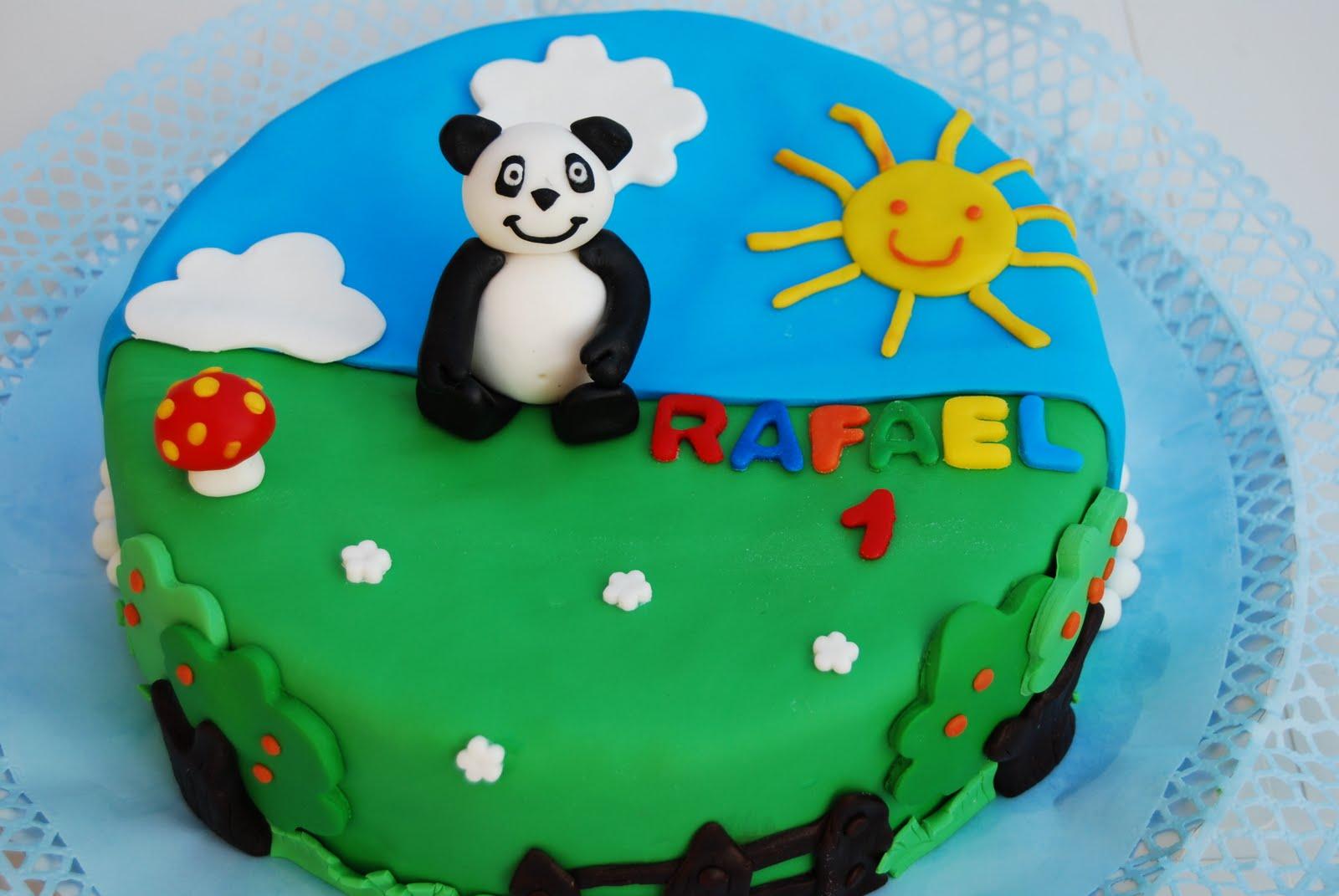 bolo aniversario panda