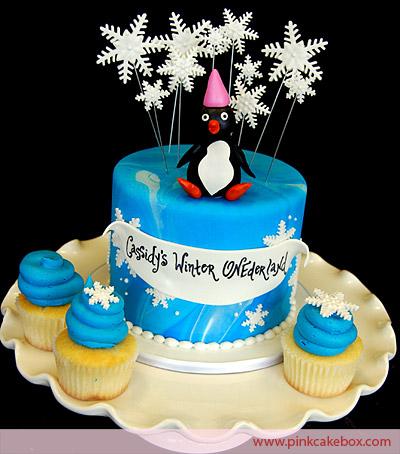 bolo aniversario pinguins