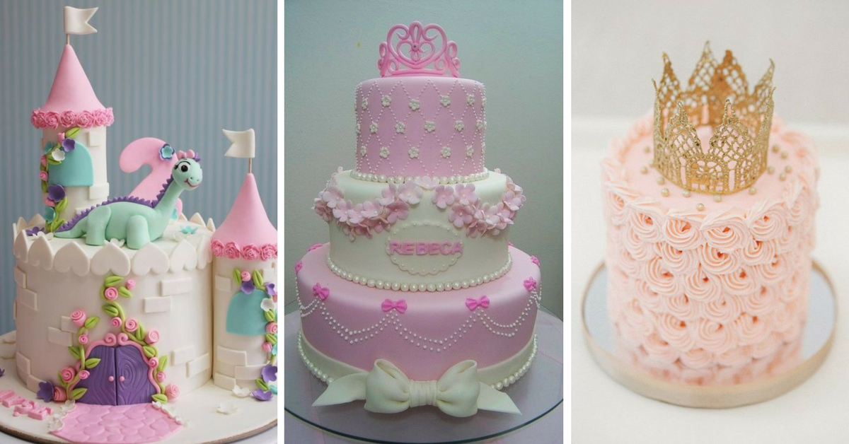 10+ Bolos Decorados de Princesas