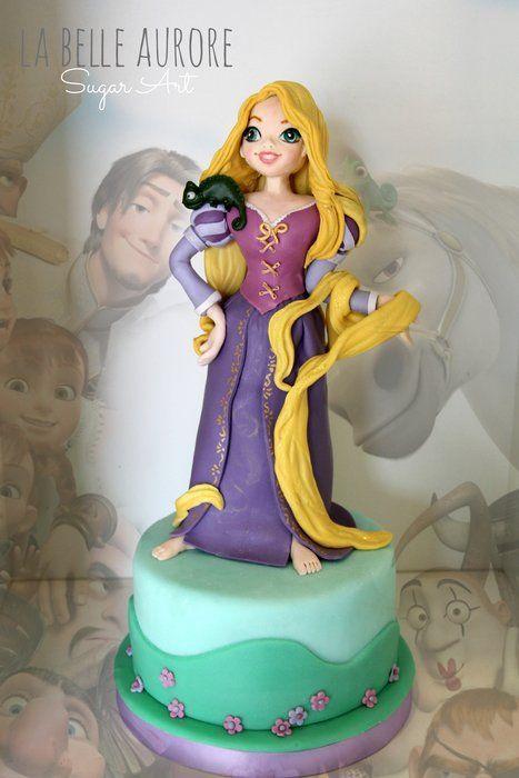 bolo aniversario rapunzel