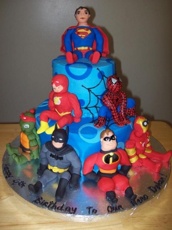 bolo aniversario super heroi