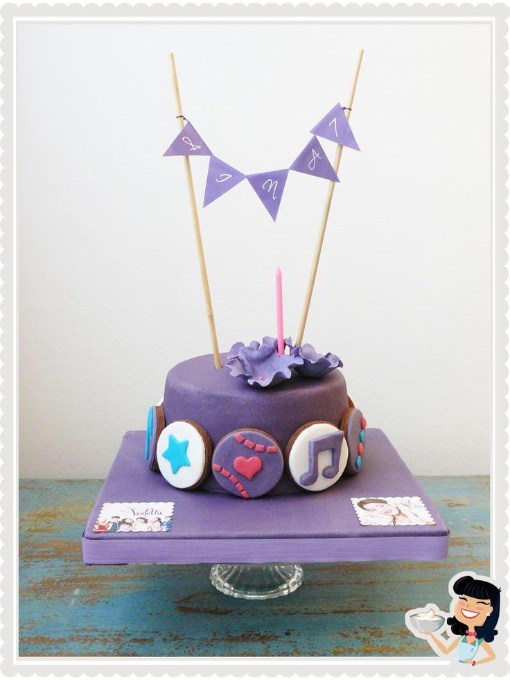 bolo aniversario violetta