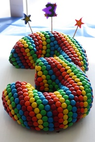 bolo arco iris pintarolas