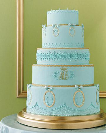 bolo azul noiva redondo