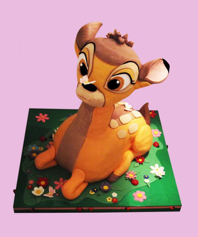 bolo bambi 3d
