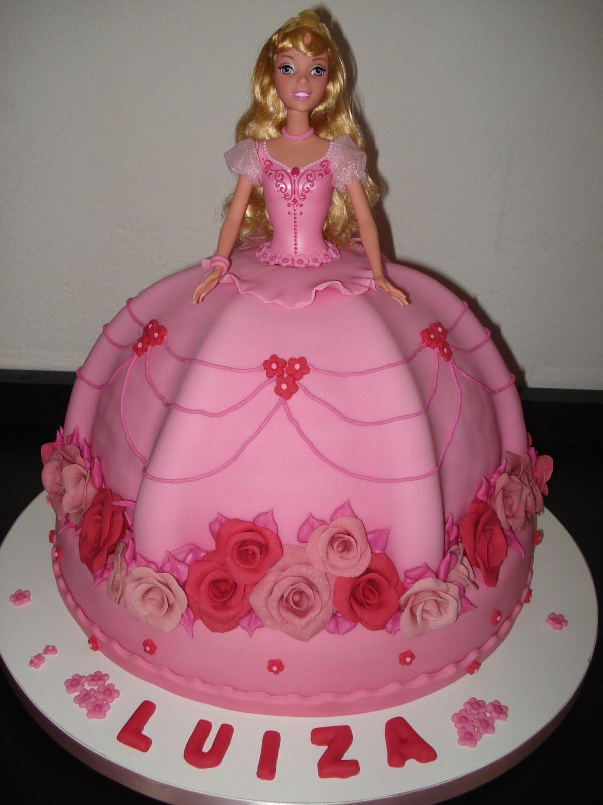 bolo barbie rosa