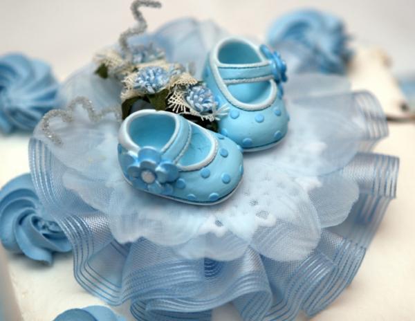 bolo batizado botinhas