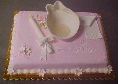 bolo batizado concha vela