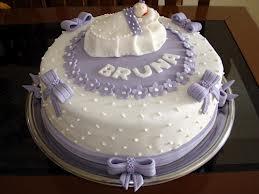 bolo batizado lilas