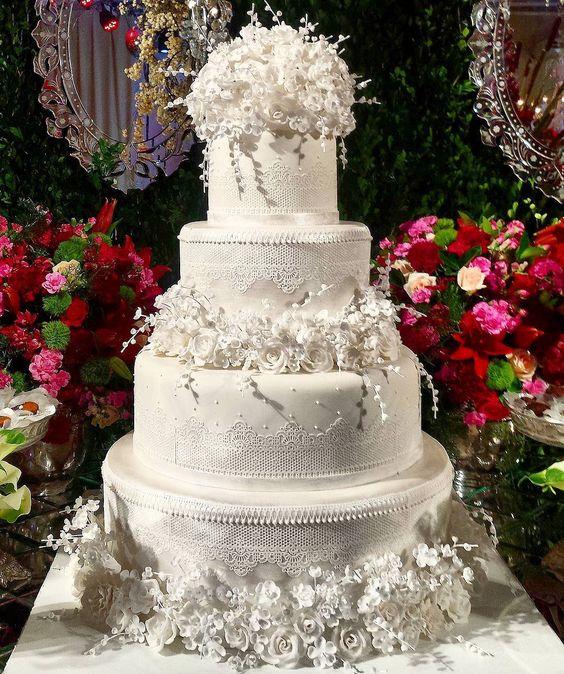 bolo branco casamento lindo