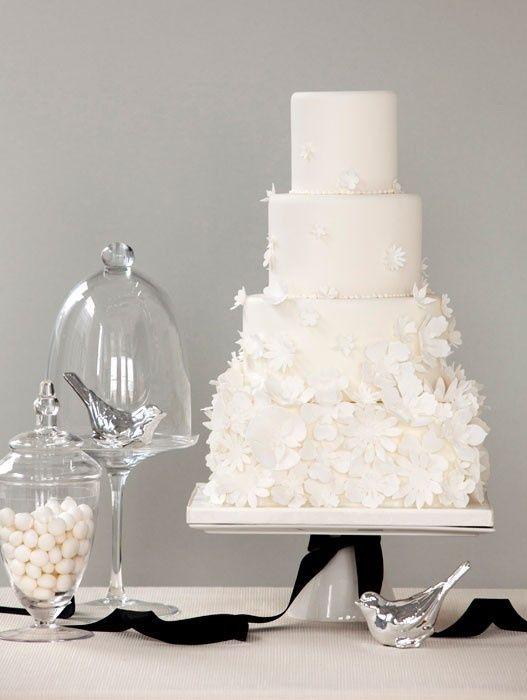 bolo branco casamento