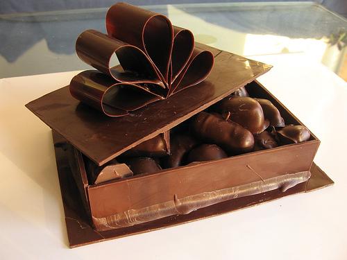 bolo caixa chocolate