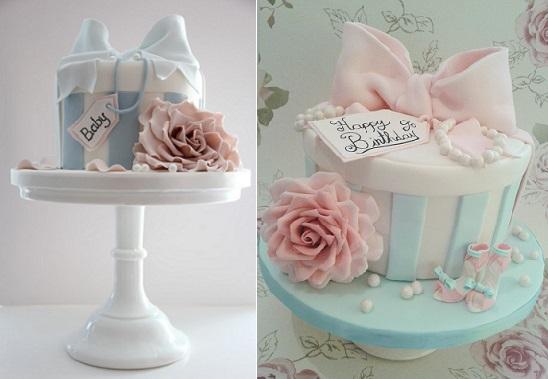 bolo caixa flor