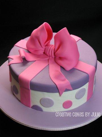 bolo caixa redondo