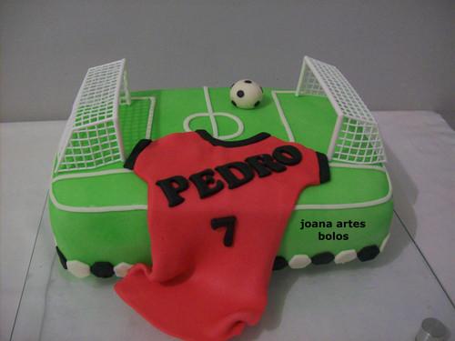 bolo campo futebol decorado