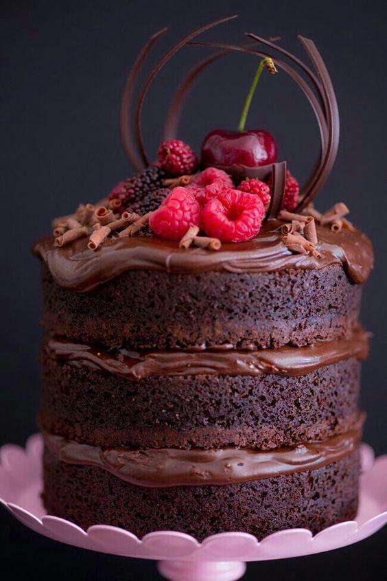 bolo casamento chocolate 2