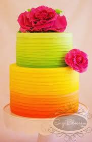 bolo casamento neon