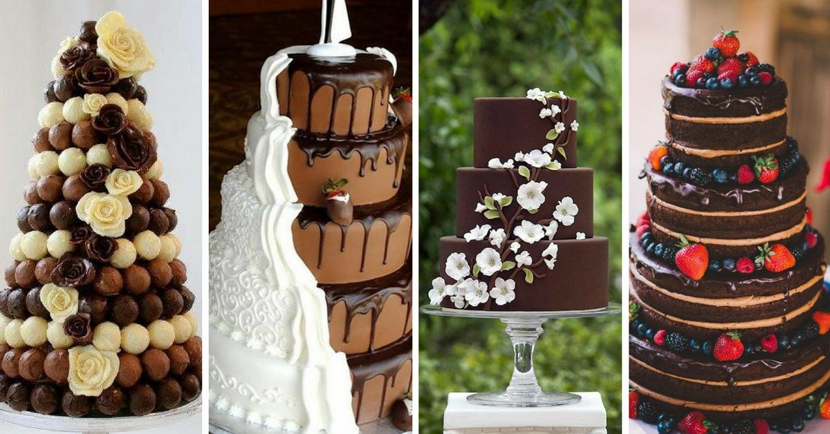 Bolos de Casamento do Tema Chocolate