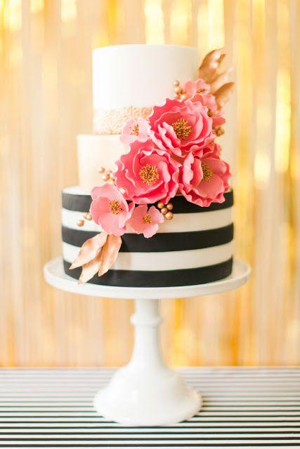 bolo casamento noiva preto branco 11
