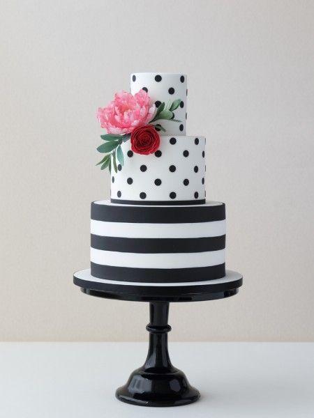 bolo casamento noiva preto branco 14