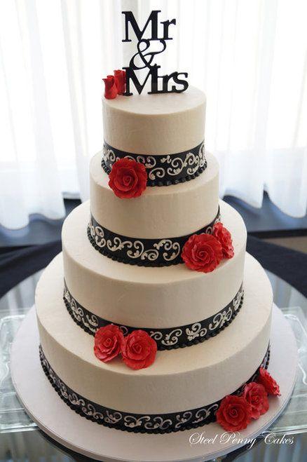bolo casamento noiva preto branco 3